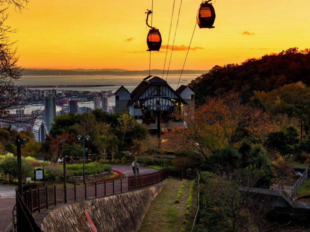神戸ハーブ園からの夕日