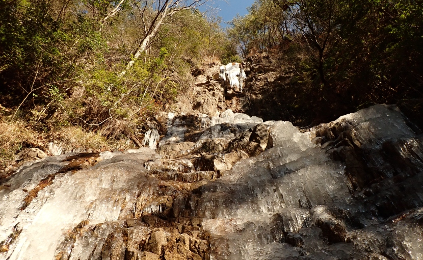 ハチノス大滝の氷瀑